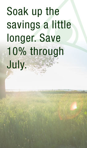July Promotion - 10% Discount When Booked In July